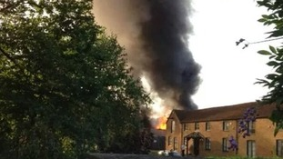 The fire at the warehouse in Datchet