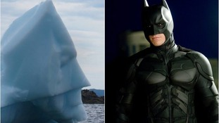 The 'Bat-berg' was supposedly seen off Little Bay Islands and resembles the face of Batman who was played by Christian Bale in The Dark Knight film.