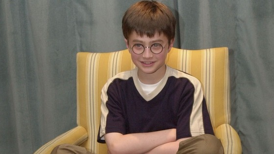 Daniel Radcliffe in 2001 before his debut as Harry Potter ...
