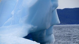 "Mike Parsons later posted another photo of the iceberg with the caption: ""Another view of the ""Batman"" Iceberg, Little Bay Islands,NL""."