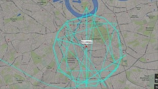 The plane circled London for two hours