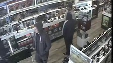 CCTV image of the three suspects in the store
