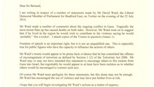 The Conservative MP has written to the head of the Met Police over the tweet.