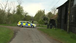 Weapons were found at Mr Arnold's home in Wyverstone.