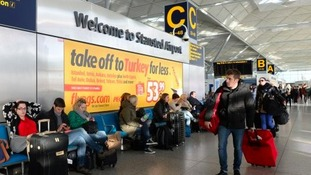 Around 140,000 passengers are expected to fly out of Stansted Airport.