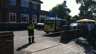 Police at the Acomb pub in York