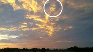 This ghostly face was captured on Ellough Airfield in Suffolk.