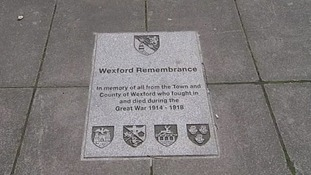 Wexford County lost 875 men during the war, a loss recognised by a plaque installed last year.