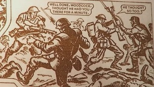 A Victor comic tells the story of the action where Moyney won his VC.