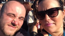 Robert Hart and girlfriend Gemma at Parklife