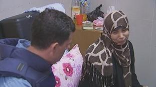 Randa Al Shaer's auntie talking to ITV News.
