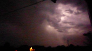 This cloud didn't look happy on Friday night over Suffolk.