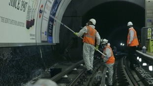Tube platforms are cleaned overnight