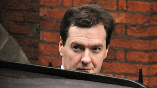 The Chancellor arrives at the Leveson Inquiry.