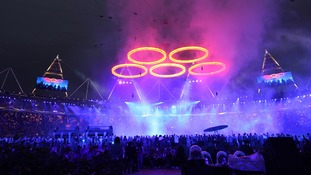 The Olympic opening ceremony in London 2012