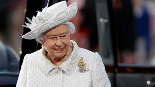 The Queen arriving at the opening ceremony of the Commonwealth Games.