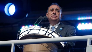 Scotland's First Minister Alex Salmond speaking at the opening of the Commonwealth Games.