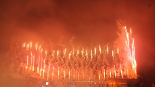 More fireworks turn the sky red at the Games is officially opened.