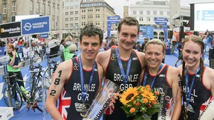 Brownlee brothers Jonny, left, and Alistair Brownlee, right, could take early gold for England.
