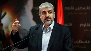 Hamas leader Khaled Meshaal says he is prepared to negotiate a ceasefire deal.