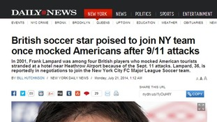 The New York Daily News article said Lampard had