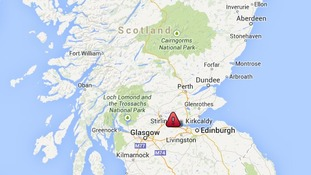 The crash happened on the A801 near Falkirk.