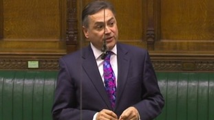 David Ruffley pictured speaking in the Commons.