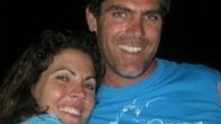 Cameron Dalziel with wife Reine.