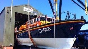 The RNLI boat at Workington