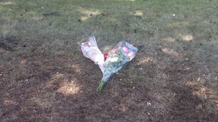 Flowers left on Fentham Road in Erdington