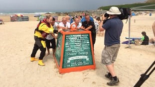 RNLI Respect the Water campaign in Newquay