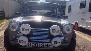 Aiiden's pride and joy - the Mini he has spent six years rebuilding