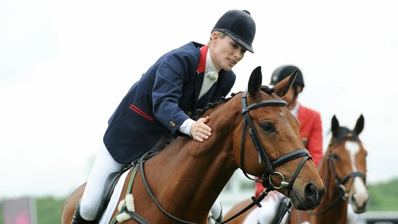 Zara Philips with High Kingdom who will be competing together as part of Team GB.