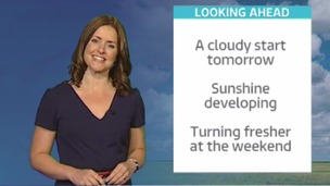 Calendar weather update with Amanda Houston