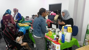 Stalls at the festival sell a variety of goods