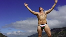 Man climbs Snowdon in thong after losing bet