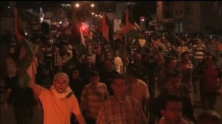Thousands took to the streets to protest after the Palestinian death toll nearly surpassed 800.