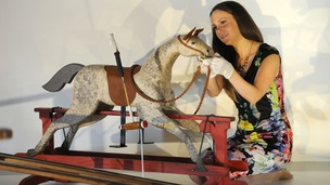 This rocking horse was given to Prince George by US President Barak Obama and his wife Michelle.
