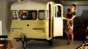 This miniature caravan was given to Prince Charles and Princess Anne by the Caravan Club when they were children.