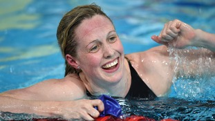 Scotland's Hannah Miley celebrates winning the 400m Individual Medley.