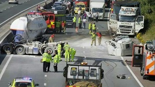 Accident on M6 yesterday