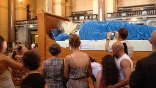 Grandmother giant has been 'asleep' at St George's Hall since Wednesday