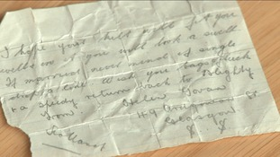 The world war one mystery message