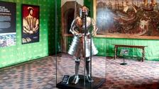 King Henry VIII's armour on display
