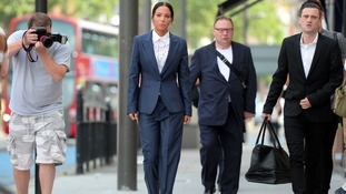Tulisa arrives at court