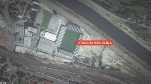 Zilina's stadium, 80km away, meets UEFA regulations