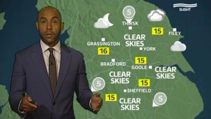Calendar weather update with Alex Beresford