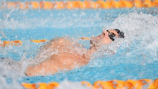 Liam Tancock in action in the Men's 100m Backstroke