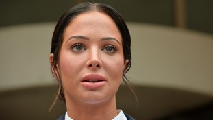 Tulisa speaking to the media after today's verdict