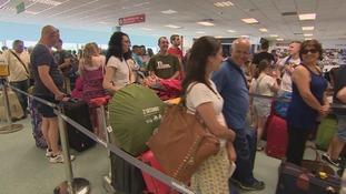 Cardiff Airport queues